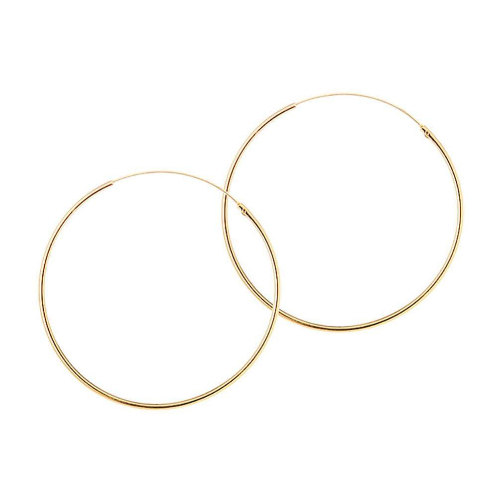 40mm hoop gold plated 1.2mm