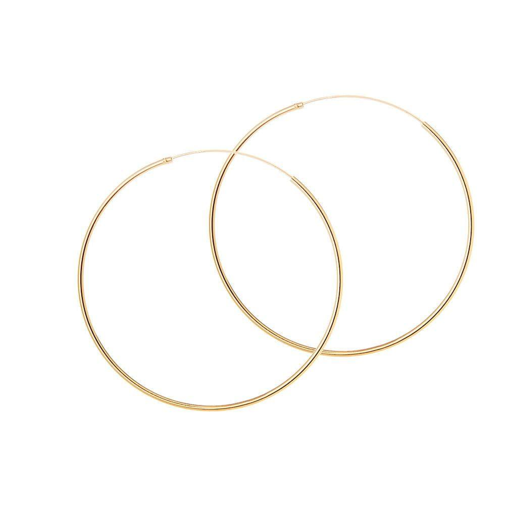 50mm hoop gold plated 1.2mm