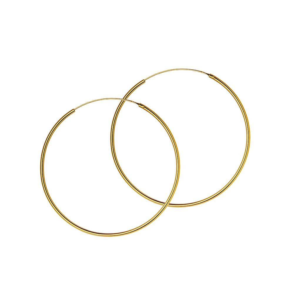 40mm hoop gold plated 1.5mm