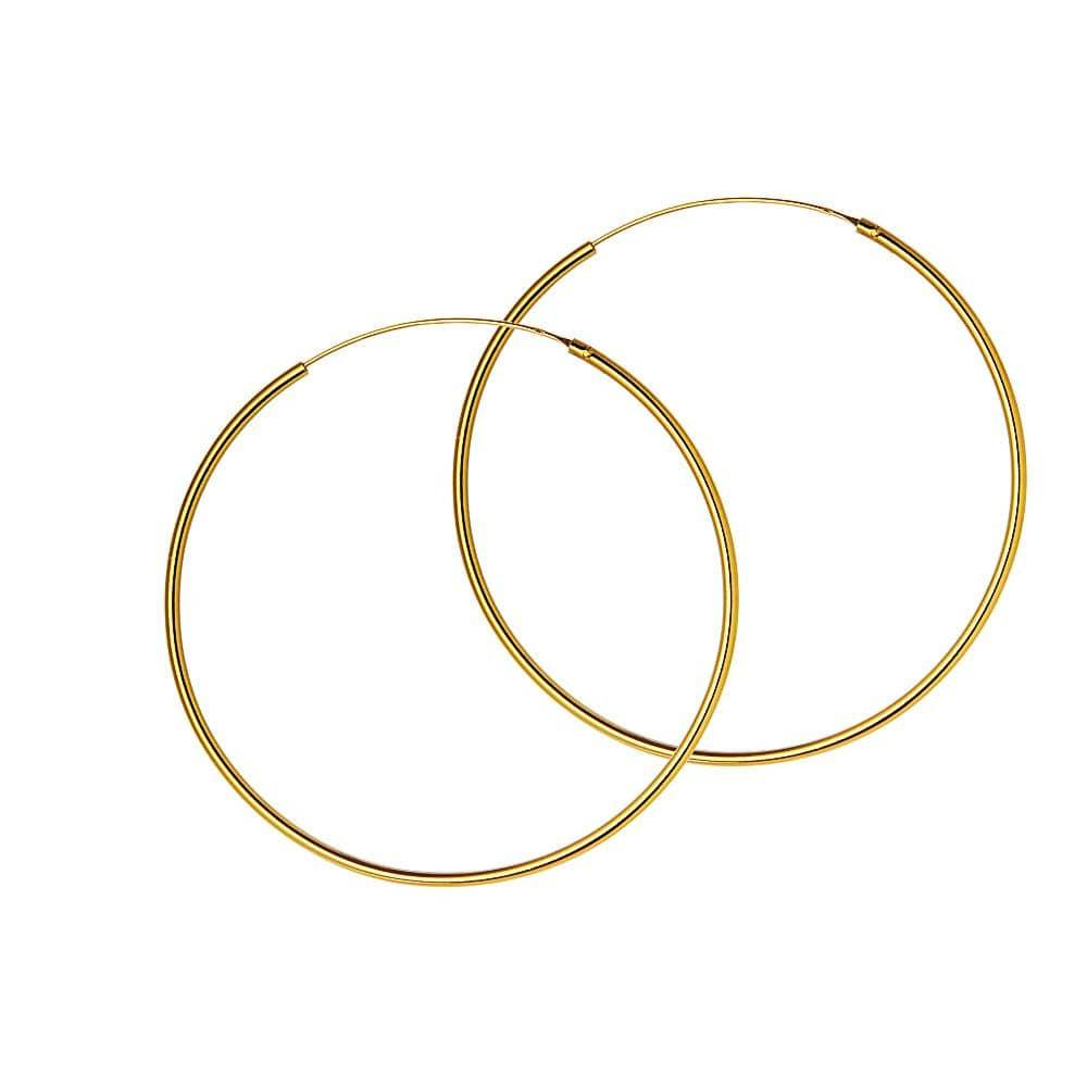 50mm hoop gold plated 1.5mm