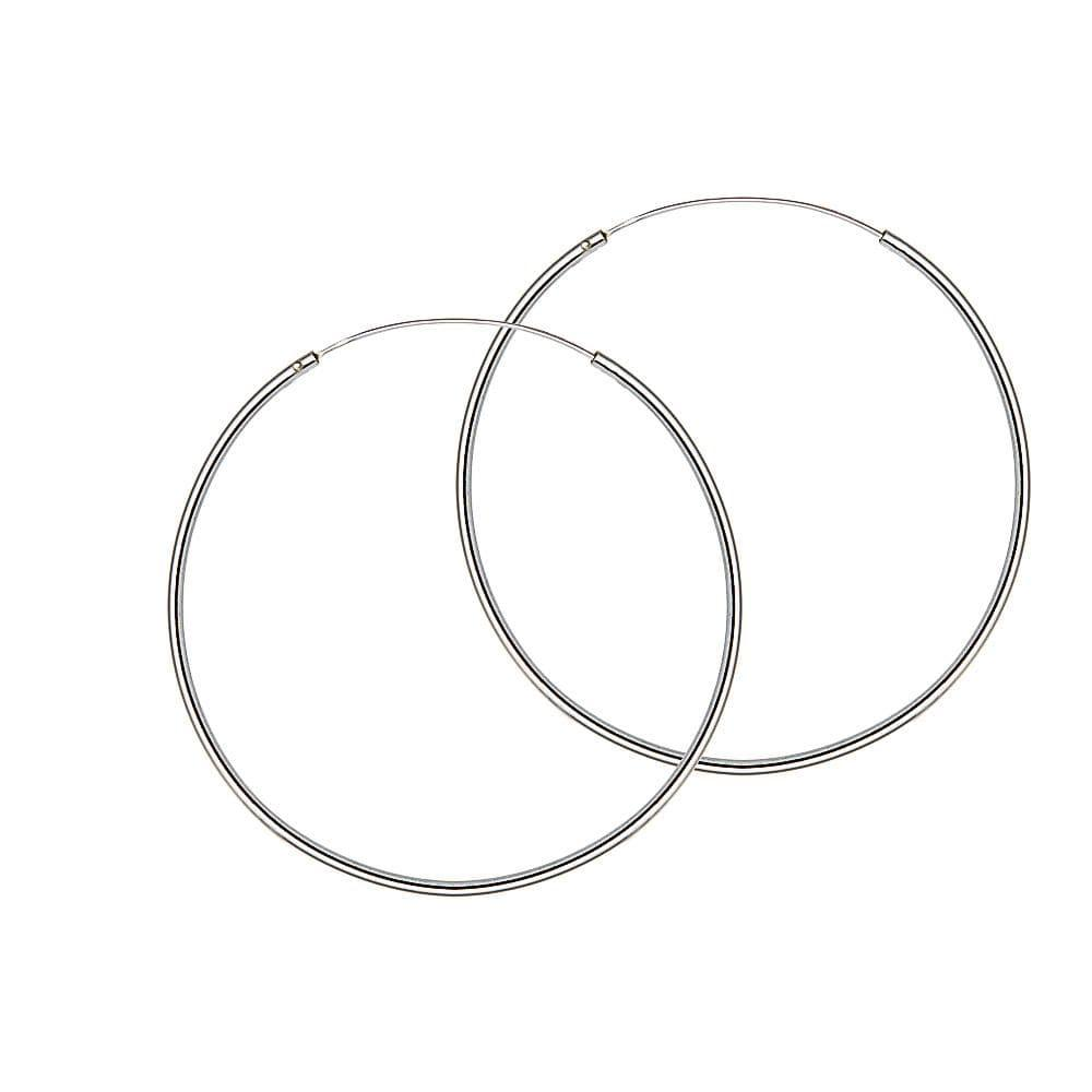 Silver Hoop Earrings 25 MM 1,5 MM