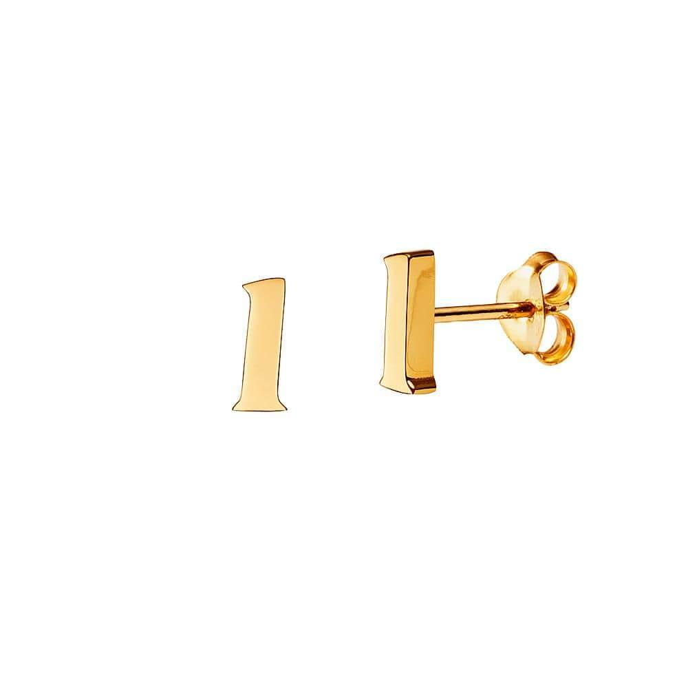 Gold Plated Stud Earring Letter y