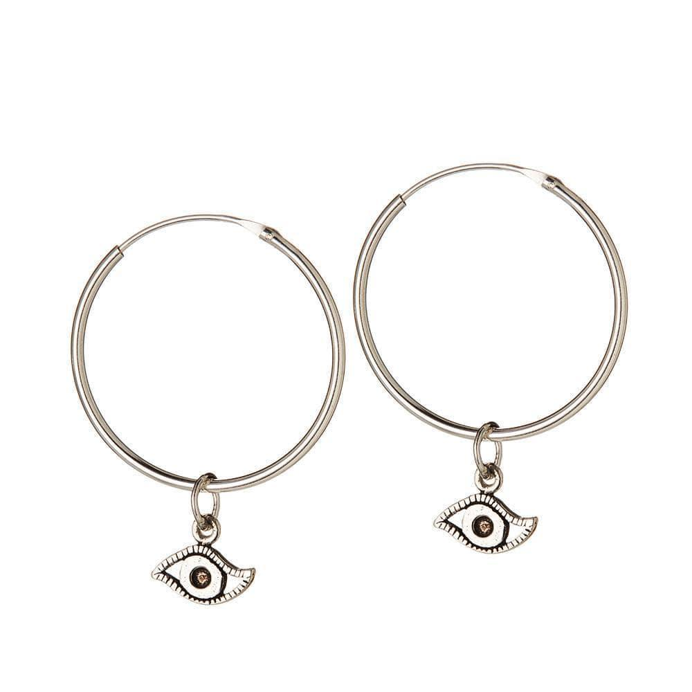 silver hoops eye 22MM