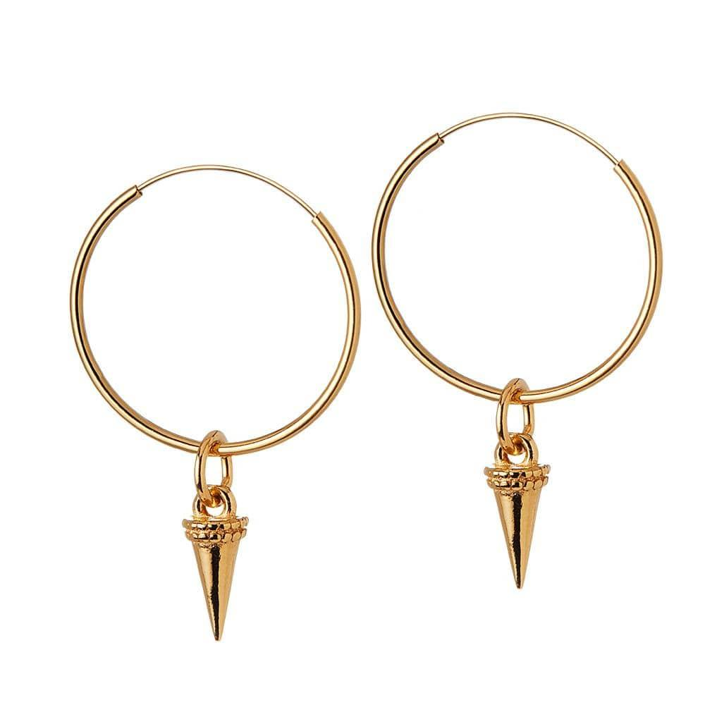 gold plated hoops horn 22MM