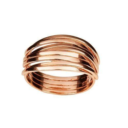 Gold Plated Twisted Ring