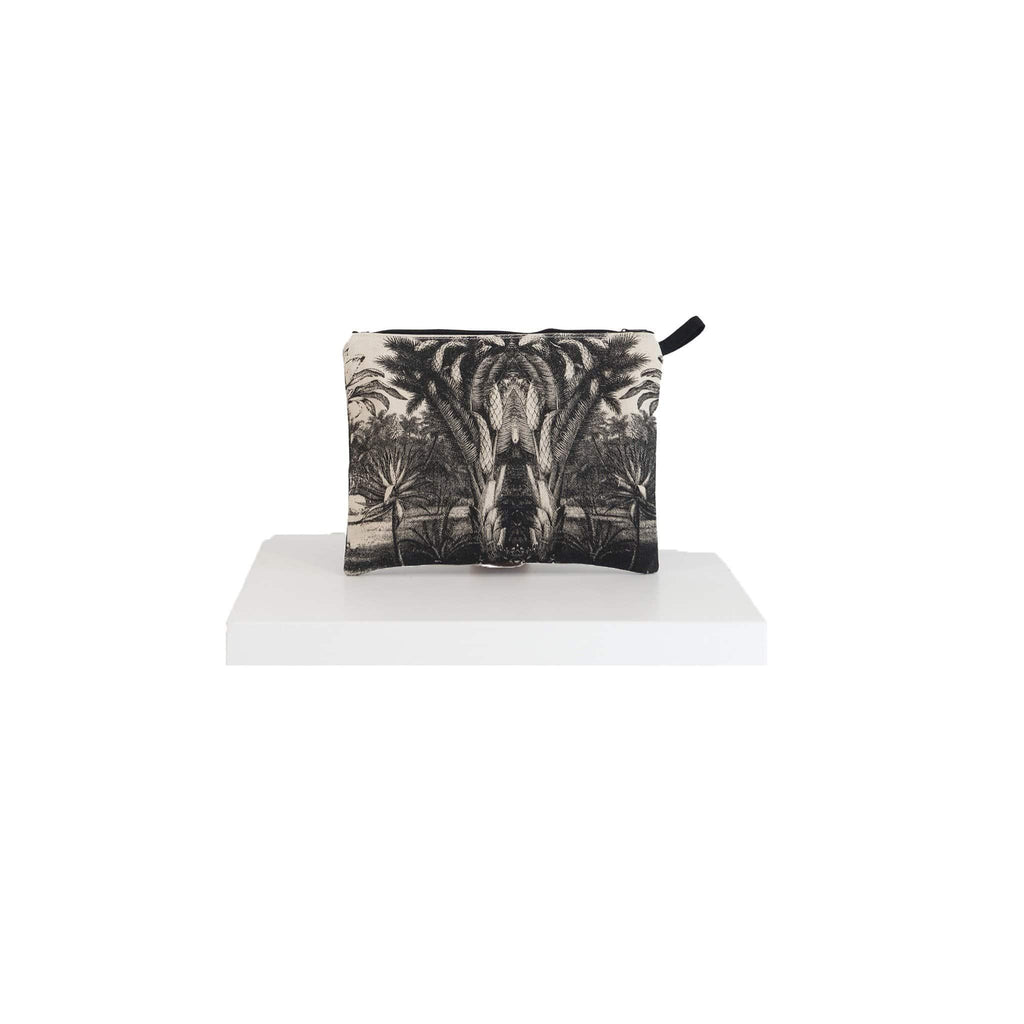 canvas pouch black jungle