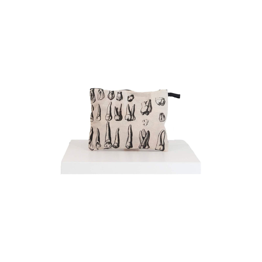 canvas pouch teeth print