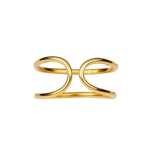 gold plated cuff ring