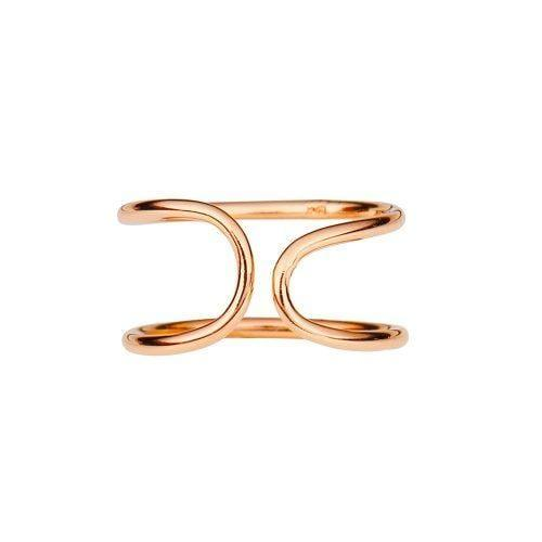 Pink Rosé Plated Cuff Ring