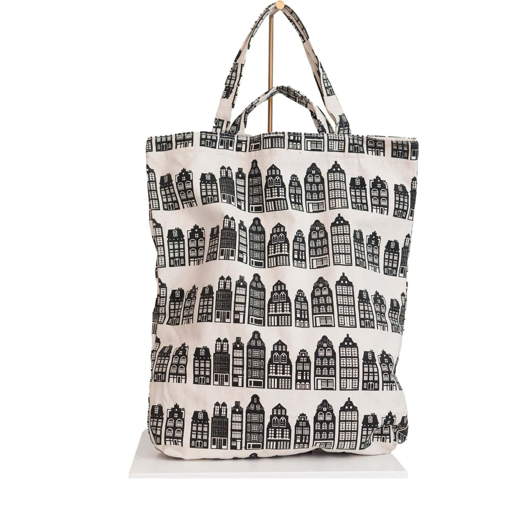 canvas tote bag Amsterdam canal house