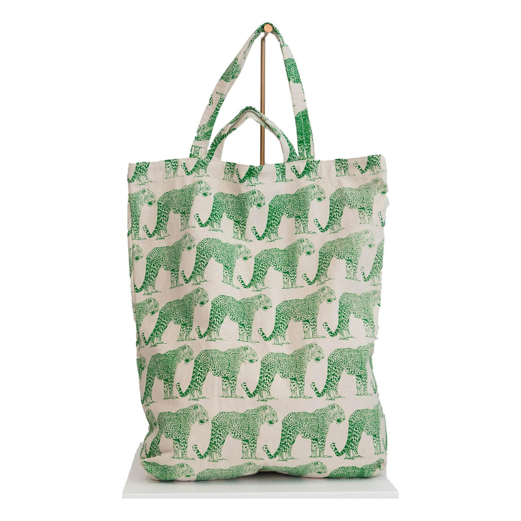 canvas tote bag panther print
