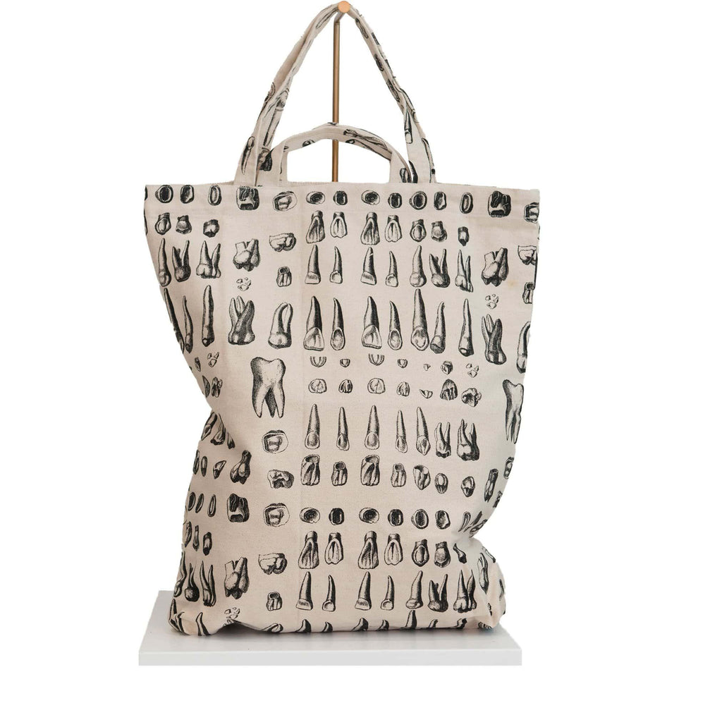 canvas tote bag teeth