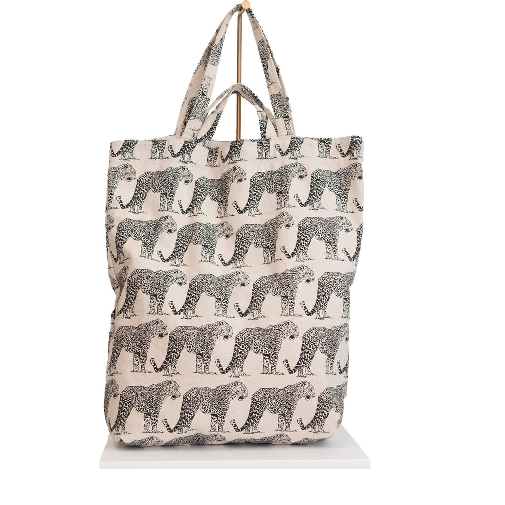 canvas tote bag panther