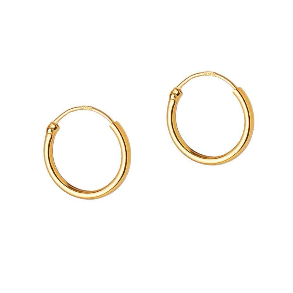 Gold Plated Silver Hoop 18 MM