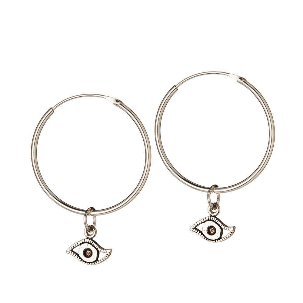 925 Silver Hoops Oog 25 mm