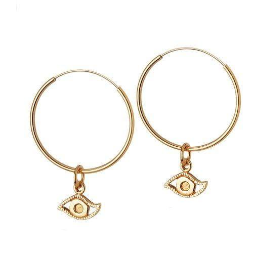 gold plated hoops eye 22MM