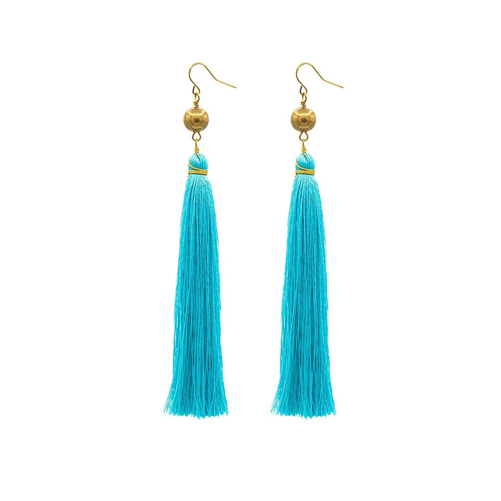 Turquoise Brush Earrings