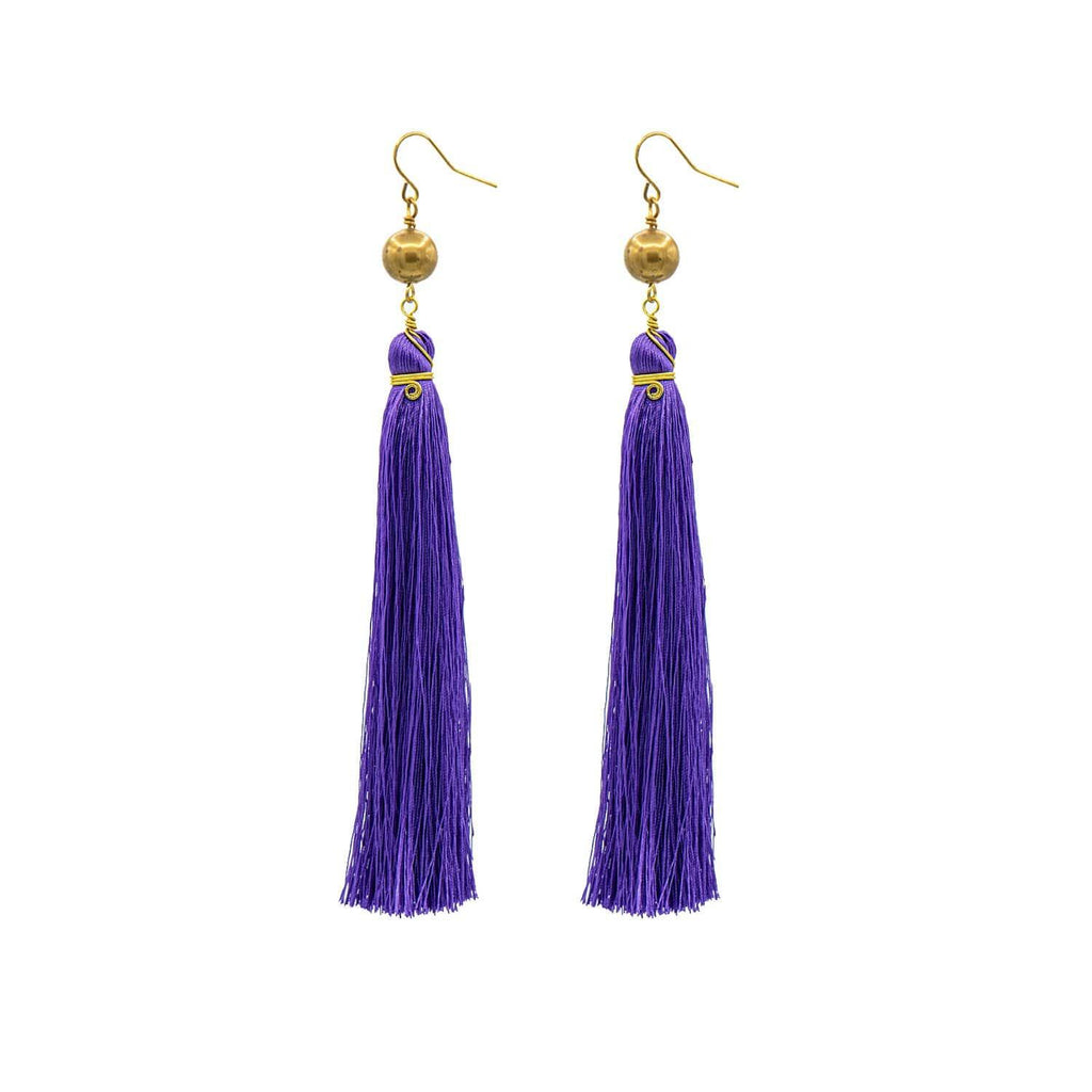 Purple Brush Earrings