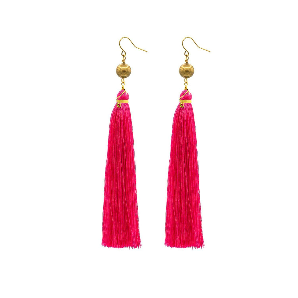 Pink Brush Earrings