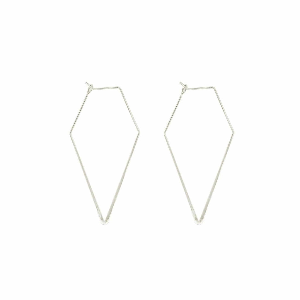 Silver Plated Spades Earrings