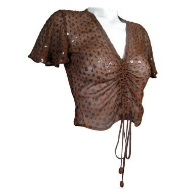 Jean-Paul Gaultier Evening Blouse 1990's Polka-Dotted Vintage - regenerationvintageclothing