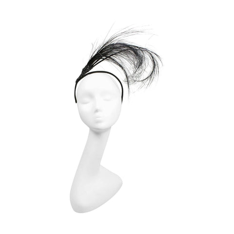 Eric Javitz Headpiece Dramatic Feather Vintage - regenerationvintageclothing