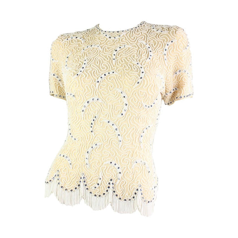 Vintage 1950's Elsie Tu Beaded Sweater