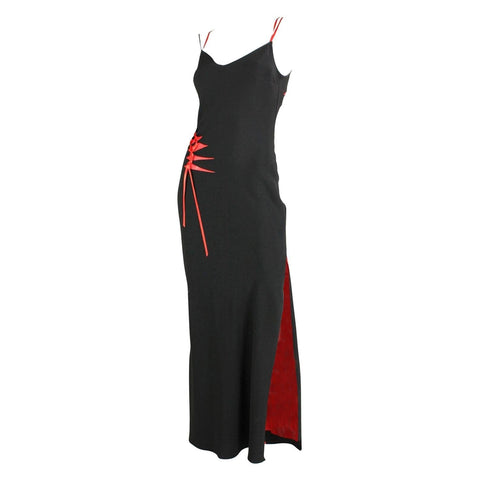John Galliano Dress Black with Cut-Outs Vintage - regenerationvintageclothing
