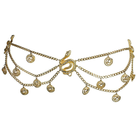 Vintage Clothing: Gold-Toned Snake Chain Belt