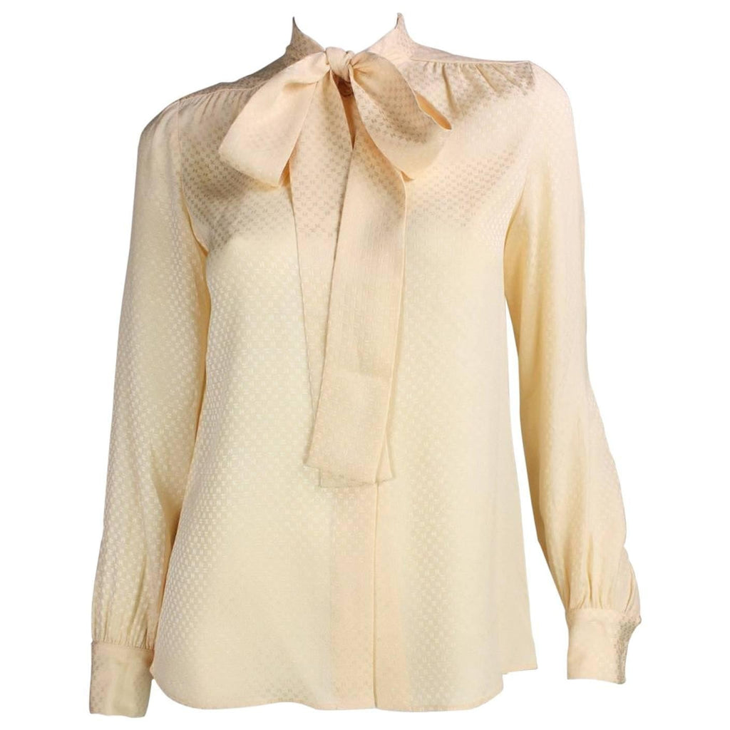 Vintage Chanel Silk Pussy Bow Blouse