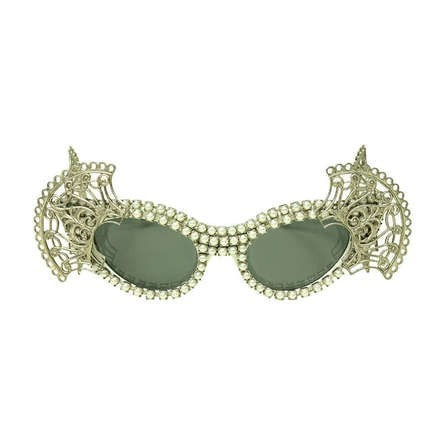 Vintage Clothing: Contemporary Mecura NYC Cat Eye Sunglasses