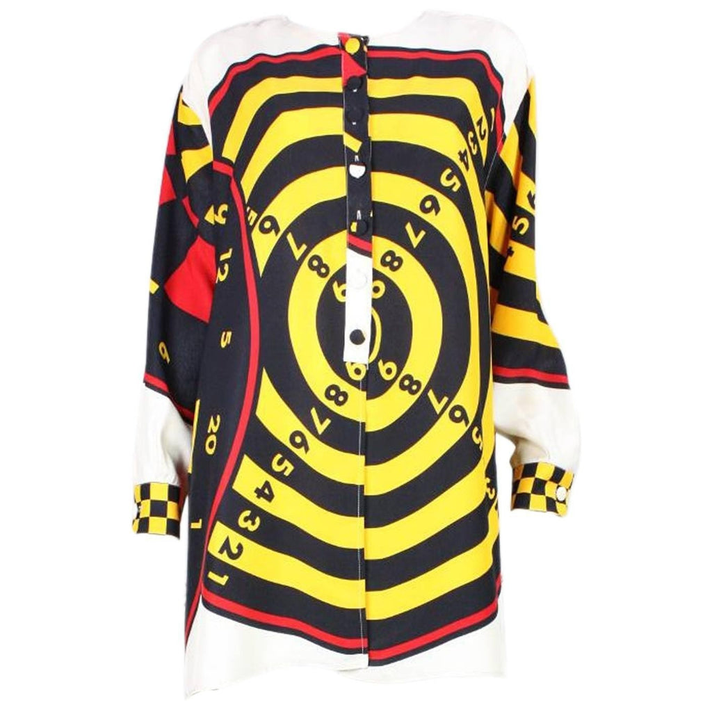 Vintage Clothing: 1990's Moschino Graphic Dartboard Blouse