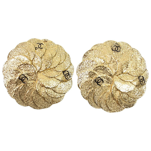 Vintage Jewelry: Chanel Gold-Toned Camellia Earrings