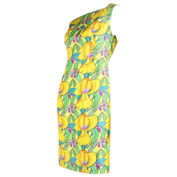 Vintage Dresses: 1960's La Mendola Yellow Silk Day Dress