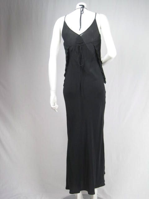 Vintage 1990's Jean-Paul Gaultier Bias Cut Gown with Pleated Bust