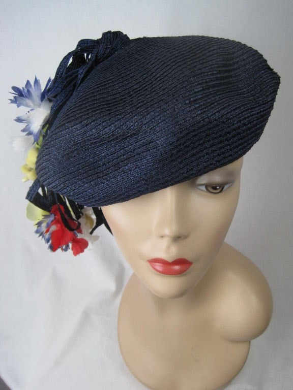 Yves Saint-Laurent Beret Straw Vintage - regenerationvintageclothing