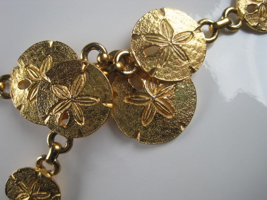 Vintage 1970's Mimi Di N Sand Dollar Belt or Necklace