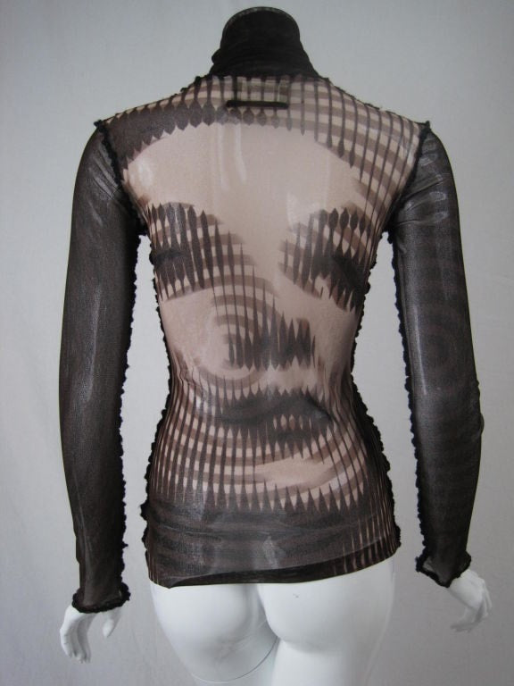 Vintage 1990's Jean-Paul Gaultier Sheer Blouse