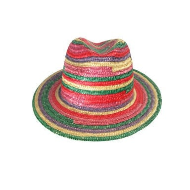 Vintage Clothing: 1970's Rainbow Fedora from Saks Fifth Avenue