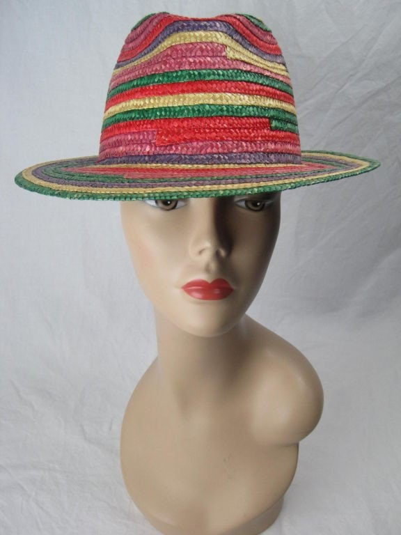 1970's Fedora Rainbow from Saks Fifth Avenue Vintage - regenerationvintageclothing
