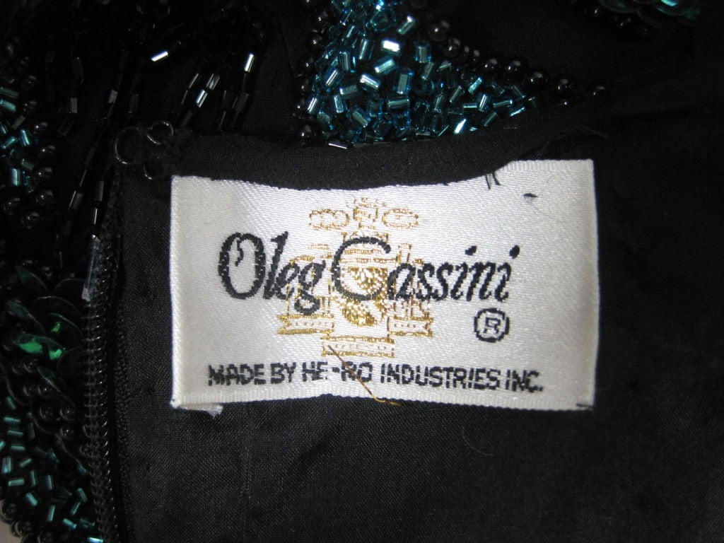 Oleg Cassini Blouse Silk Beaded Vintage - regenerationvintageclothing