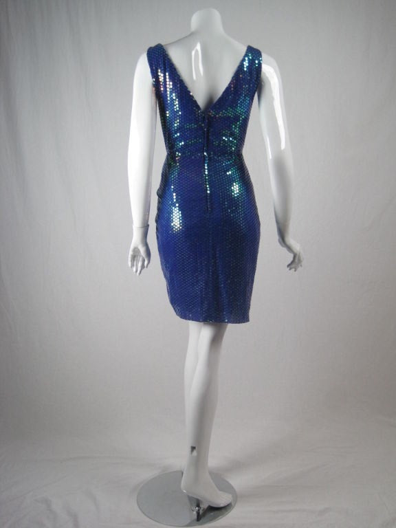 Vicky Tiel Couture Dress 1990's Sequined Vintage - regenerationvintageclothing