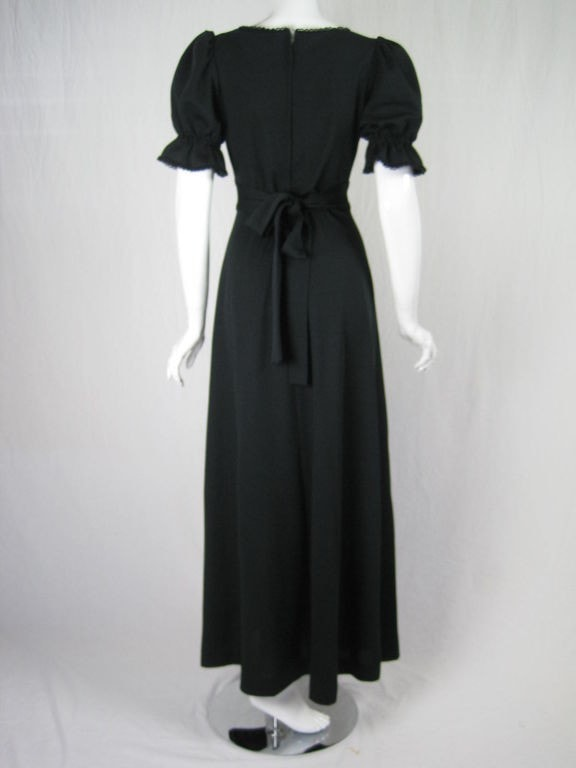 Radley Maxi Dress 1970's Black Vintage - regenerationvintageclothing