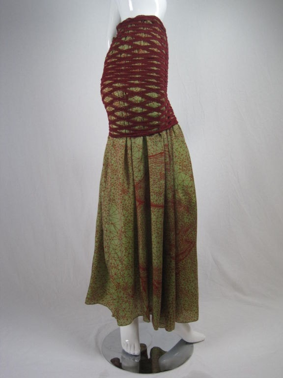 Vintage 1990's Jean-Paul Gaultier Double Layered Skirt