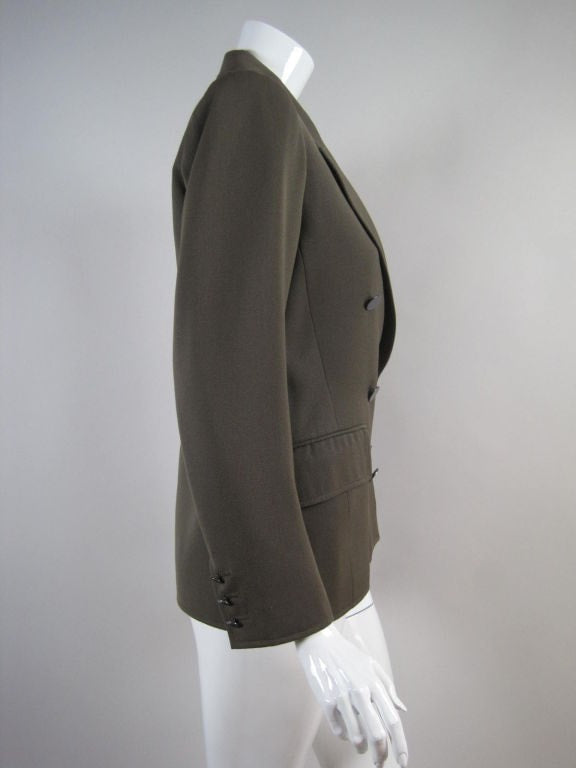 Vintage 1970's Yves Saint-Laurent Double-Breasted Military Blazer