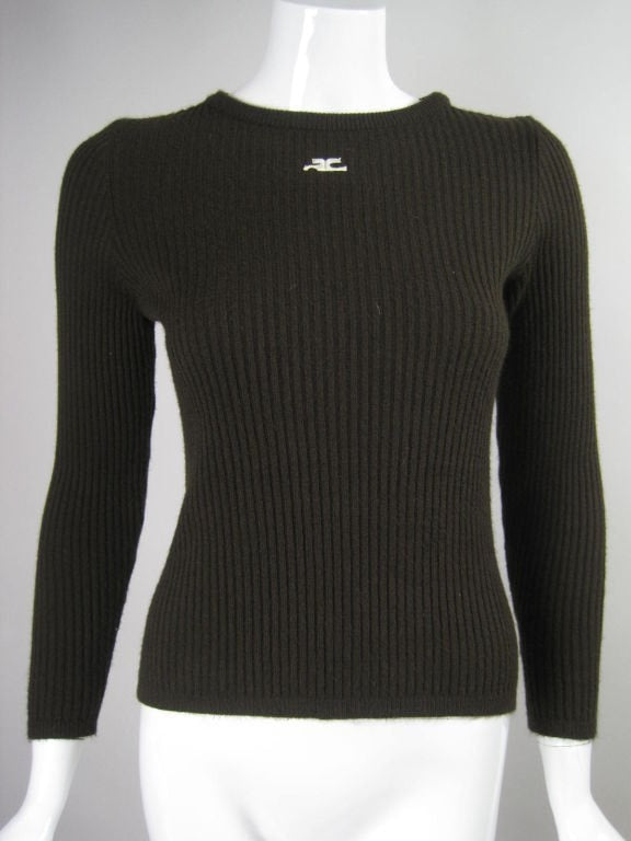 Vintage 1970's Courreges Ribbed Sweater