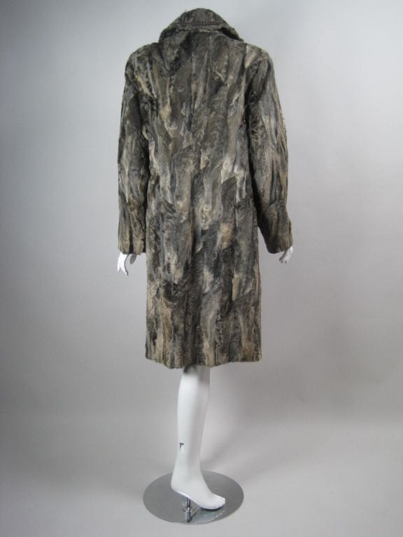 Louis Feraud Coat 1980's  Lamb's Fur Vintage - regenerationvintageclothing