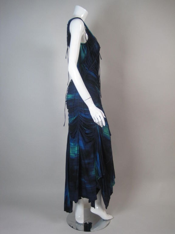 Issey Miyake Gown 2006 Ruched Jersey Vintage - regenerationvintageclothing
