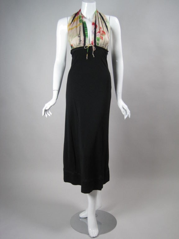 Jean-Paul Gaultier Dress 1990's Halter Vintage - regenerationvintageclothing