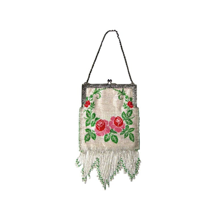 Vintage Clothing: 1920's Beaded Handbag with Fringe